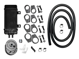 10-Row Vertical Wideline Oil Cooler Kit. Fits all H-D.