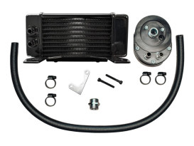 10-Row LowMount Oil Cooler Kit. Fits Touring 1984-2008.