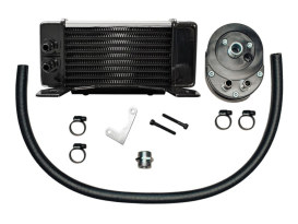 10-Row LowMount Chrome Oil Cooler Kit. Fits Touring 1984-2008.