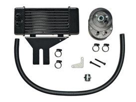 10-Row LowMount Oil Cooler Kit. Fits Dyna 1991-2017.
