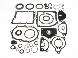 Transmission Gasket Kit. Fits Big Twin 1936-1986 with 4 Speed Transmission.