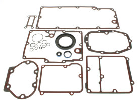 Transmission Gasket Kit. Fits Softail 2000-2006, Touring Models 1999-2006 & Dyna 1999 Models with 5 Speed Transmission.