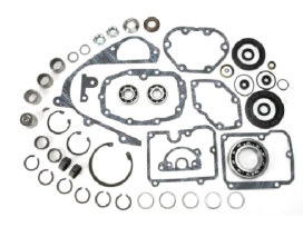 Transmission Rebuild Kit. Fits Big Twin Late 1984-1990 with 5 Speed Transmission & Fine Spline Main Drive Sprocket.