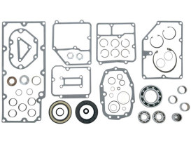 Transmission Rebuild Kit. Fits Big Twin 1991-1998 with 5 Speed Transmission & Aftermarket 6 Speed with the Smaller 1991-1998 Trapdoor Bearings.