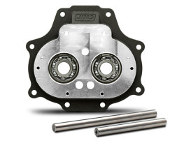 Trapdoor with Dyna 2006 Wide Bearing Upgrade - Black. Fits Big Twin 2007up with OEM 6 Speed Transmission.