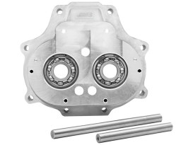 Trapdoor with Dyna 2006 Wide Bearing Upgrade - Silver. Fits Big Twin 2007up with OEM 6 Speed Transmission.