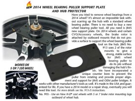 Tool; Wheel Brg Support Plate FLH'14up