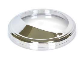Speedometer Trim Ring with Visor & Chrome Finish.