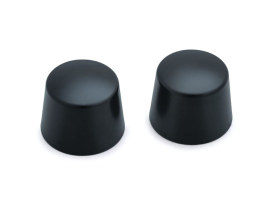 Front Axle Caps - Black. Fits Softail, Dyna, Touring & Sportster with 25mm Axle.