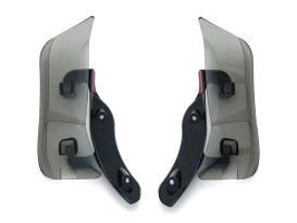 Adjustable Fairing Air Deflectors - Dark Smoked. Fits Road Glide 2015up.