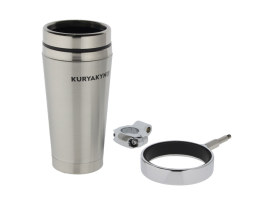 Drink Holder with Stainless Steel Mug & 1