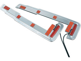 Lower Rear Saddlebag Accent with Light - Chrome. Fits Touring 1993-2012 with Hard Saddlebags.