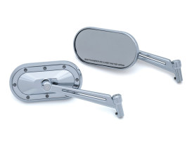 Heavy Industry Mirrors with Chrome Finish.