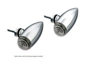 Mini Bullet Turn Signals with Amber LED - Chrome.