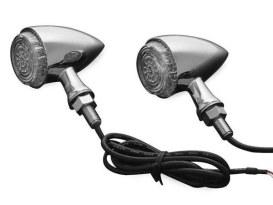 Torpedo Turn Signal with Amber LED - Chrome.