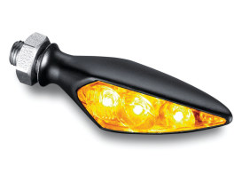 Kellermann Rhombus S Left Hand Front / Right Hand Rear Turn Signal - Amber - Black.