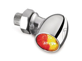 Kellermann Bullet Atto Dual Function Turn Signal - Red Run/Brake - Amber Turn - Chrome.