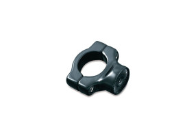 Side Mount Number Plate Clamp - Black. Fits Softail 1986-2017.
