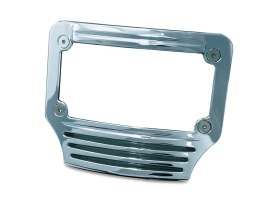 Curved Number Plate Frame with LED Number Plate Light - Chrome.