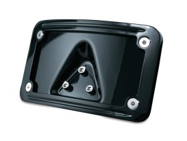 Laydown Curved Number Plate Frame with Black Finish.