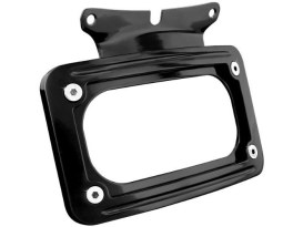 Curved Number Plate Frame - Gloss Black. Fits Touring 2005up & FLD 2012-2016.