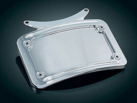 Curved Number Plate Frame with Chrome Finish.
