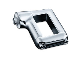 Side Mount Number Plate Clamp - Chrome. Fits Softail 1986up & 1-1/8