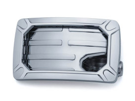 Nova Curved Horizontal Side Mount Number Plate Frame - Chrome.
