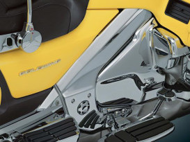 Boomerang Frame Covers - Chrome. Fits Honda Gold Wing GL1800 2001up & F6B.