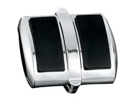 Shift & Brake Pedal Pad Cover with Chrome Finish.