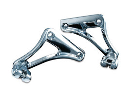 Underseat Peg Mounts - Chrome. Fits Softail 2008up.