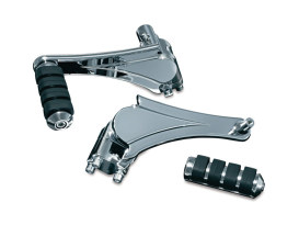 Adjustable Rear Small ISO Footpegs with Chrome Finish. Fits Touring 2010up.