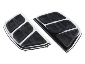 Rear Kinetic Floorboard Inserts with Chrome Finish.