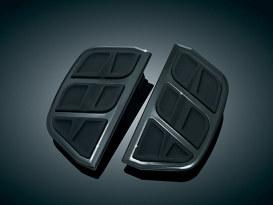 Rear Kinetic Passenger Floorboard Inserts - Black.