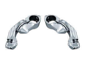 Footpeg Mounts with 1-1/4in. Tour-Tech Short Arm - Chrome. Fits Touring and Trikes with Fairing Lowers.