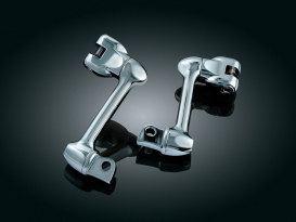 4in. Adjustable Lockable Offsets with Male Mounts - Chrome.</P><P>
