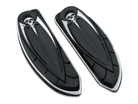 Front Zombie Floorboard Covers with Chrome Finish.