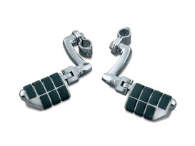 Longhorn Offset Highway Footpegs with Dually & 1-1/4in. Clamps.
