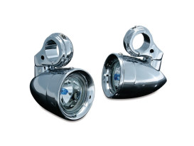 Engine Guard Mounted Driving Lights - Chrome. Fits 1-1/4in. Engine Guard Tubing.