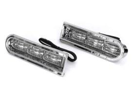LED Saddlebag Inserts - Chrome. Fits Touring 2014up.
