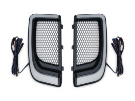 Tracer L.E.D. Fairing Lower Grills - Black. Fits Touring 2014 with Fairing Lowers.