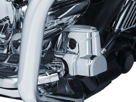 Rear Master Cylinder Cover - Chrome. Fits Indian Touring 2014up.