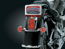Tombstone Taillight with LED Insert. Fits Softail Deluxe Models.