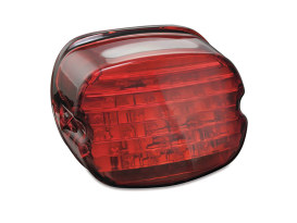 LED Low Profile Taillight with Red Lens & Number Plate Illumination.