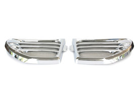 Speaker Grilles with Chrome Finish. Fits Indian Chieftain & Roadmaster Models 2014up.