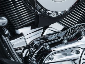 Cylinder Base Cover with Chrome Finish. Fits Indian 2014up Models.
