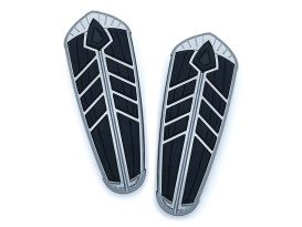 Front Spear Floorboard Inserts - Chrome. Fits Indian 2014up.