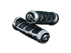 Kinetic Handgrips - Chrome. Fits H-D 2008up with Throttle-by-Wire.