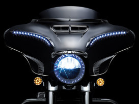 7in. LED Halo Headlight Trim Ring - Chrome. Fits Touring 2014up.