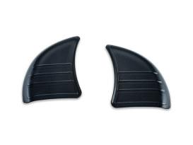 Tri-Line Inner Fairing Mirror Covers - Black. Fits FLHX 2014up.